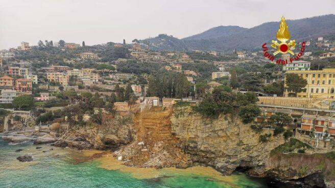 Imagen del acantilado derrumbado