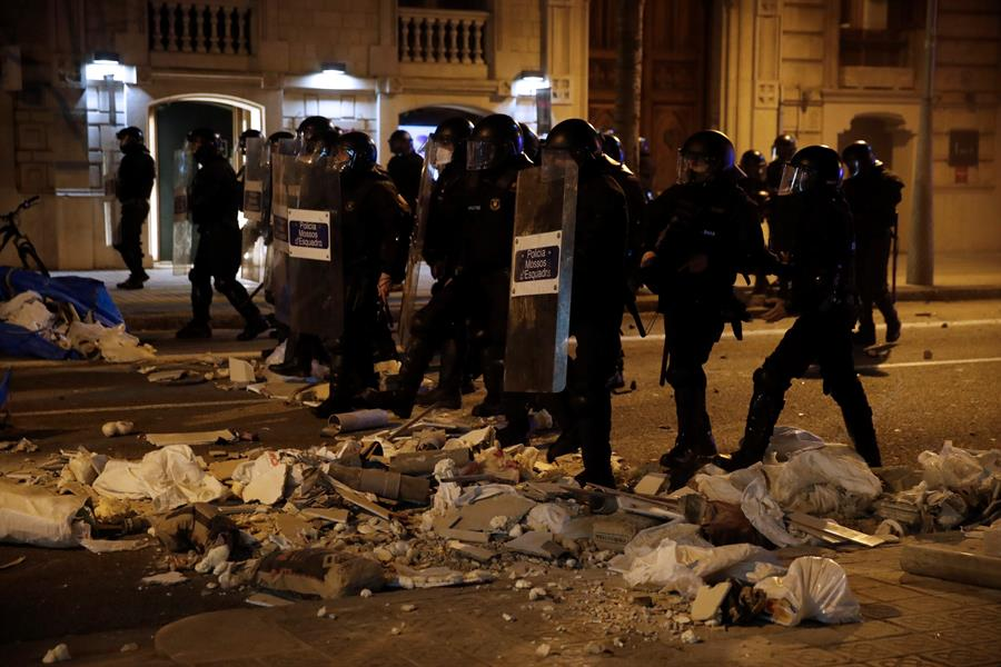 Disturbios tras la detención de Pablo Hasel