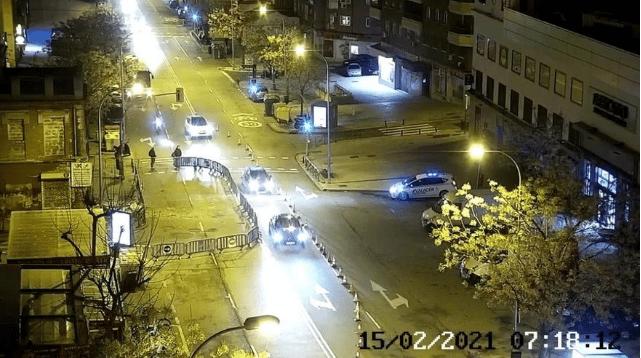 Calle Marqués de Viana parcialmente cortada después del derrumbe.