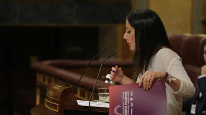 La diputada de Podemos, Isabel Franco.