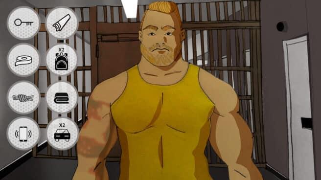 Imagen de una caricatura de Jonathan Moñiz, el piojo, en la carcel de Valdemoro con los elementos que emplearos para la fuga