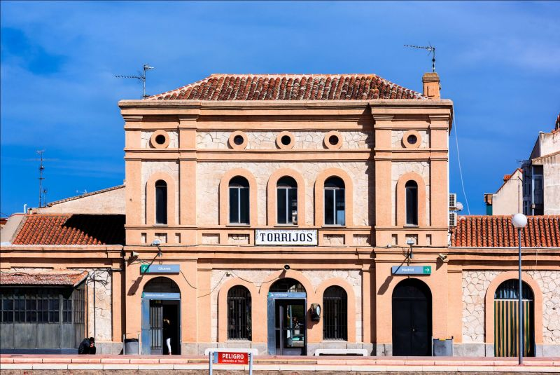 Estación de ferrocarril de la localidad de Torrijos, en Toledo.