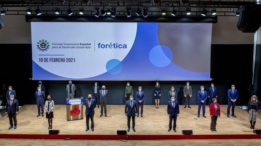 Un total de 25 presidentes y CEOs de grandes empresas han constituido el Consejo Empresarial Español para el Desarrollo Sostenible. Foto institucional