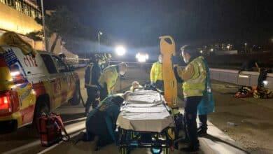 Un hombre herido tras caer desde una altura de seis metros al río Manzanares
