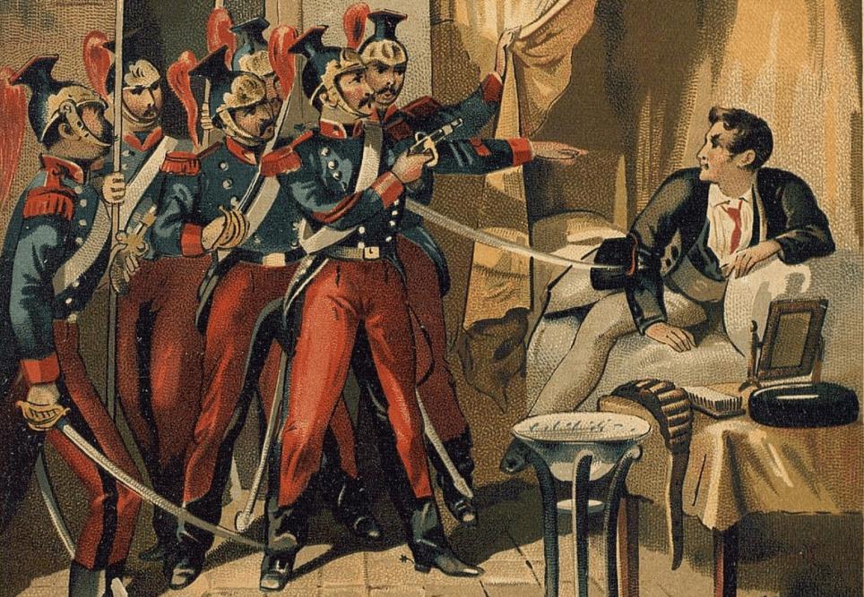 Ilustración que hace referencia a Luis Candelas en el libro 'Bandidos celebres españoles: episodios históricos referentes a los más famosos bandidos'.