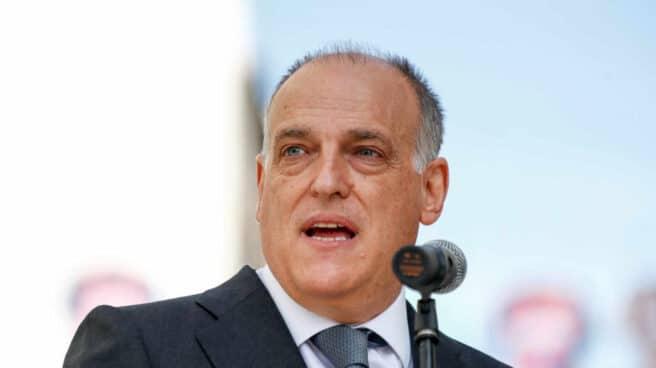 Javier Tebas, presidente de LaLiga en una presentación en Madrid.