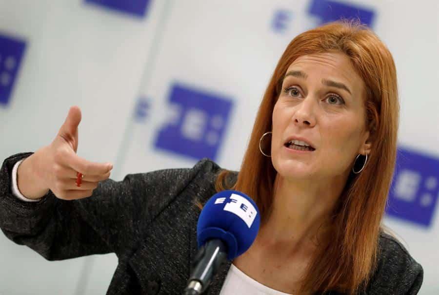 Jessica Albiach, candidata de En Comú-Podem en las elecciones de Cataluña.