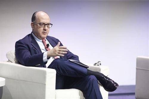 El presidente de la AEB, José María Roldán, durante el encuentro Edufin Summit 2019.