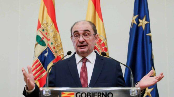 El presidente de Aragón, Javier Lambán, anuncia que tiene cáncer de colon
