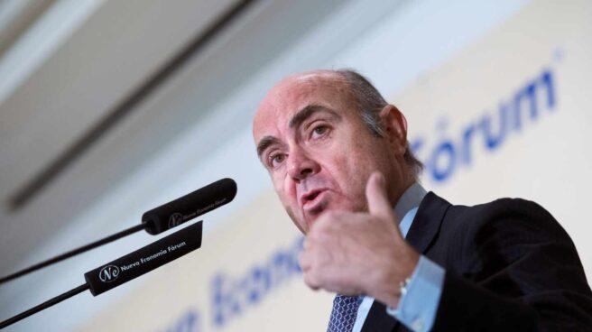 El vicepresidente del BCE, Luis de Guindos, en un acto de Nueva Economía Fórum.