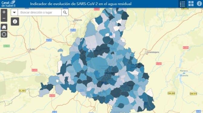 Consulta el mapa sobre la presencia de coronavirus en las aguas residuales de Madrid