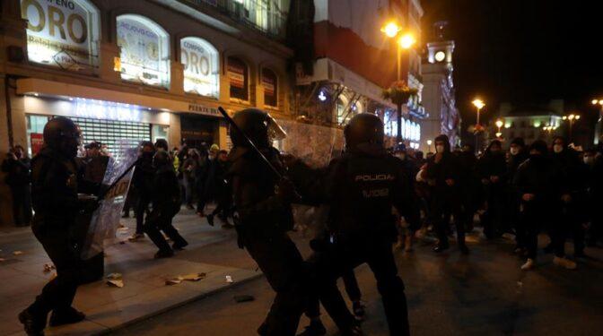 Disturbios en Madrid en la manifestación en apoyo a Pablo Hasel