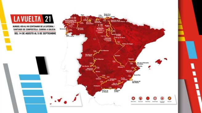 Recorrido de La Vuelta a España 2021.