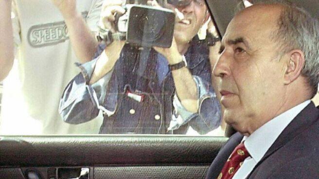 Enrique Rodríguez Galindo, en una imagen de archivo tras una declaración judicial.