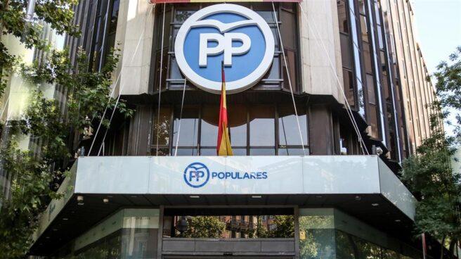 Sede del PP en la calle Génova, en Madrid.