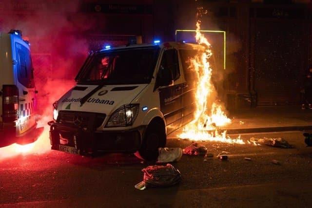 Disturbios en Barcelona por la libertad de Pablo Hasél