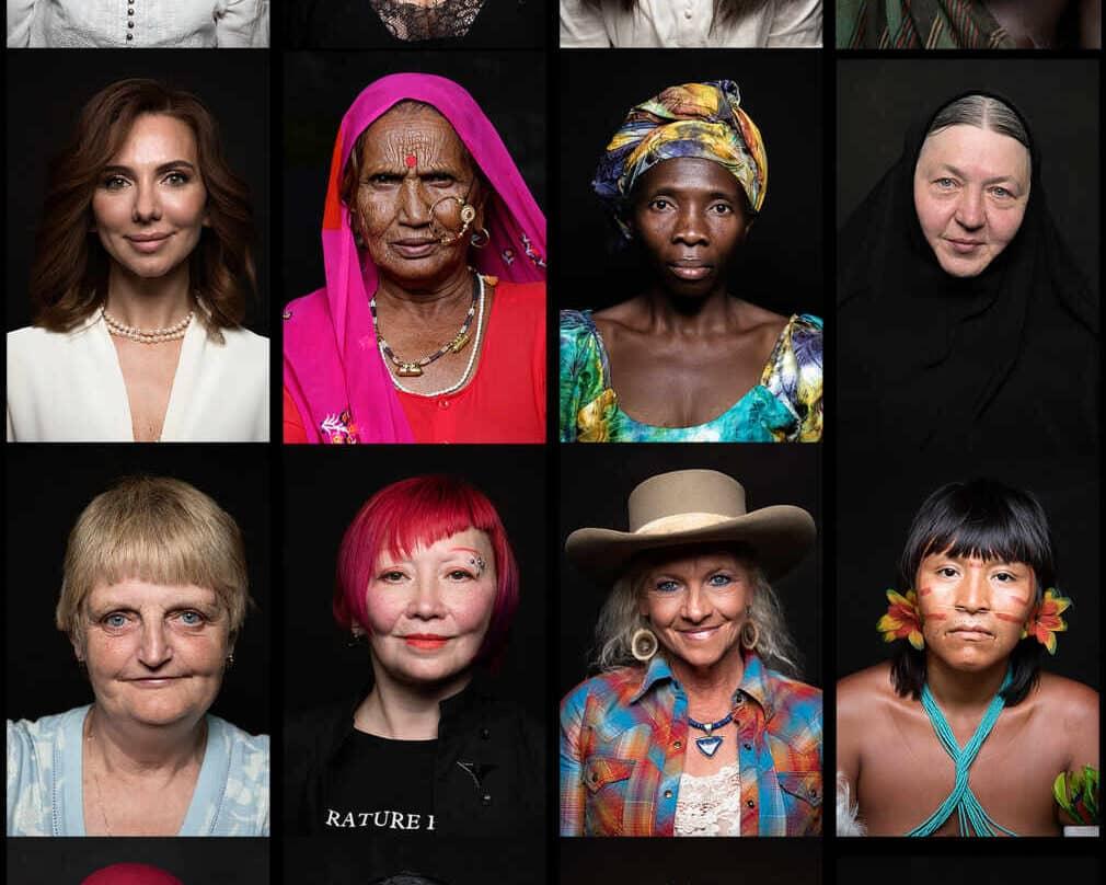 Poster promocional del documental Woman con caras de diferentes mujeres
