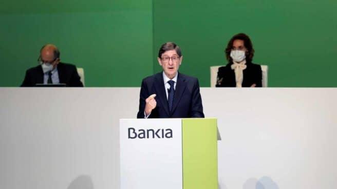 José Ignacio Goirigolzarri, en la junta de accionistas de Bankia.
