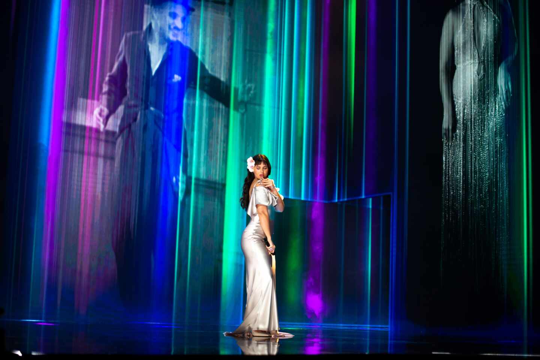La cantante Nathy Peluso actúa en la gala de la 35 edición de los Premios Goya.