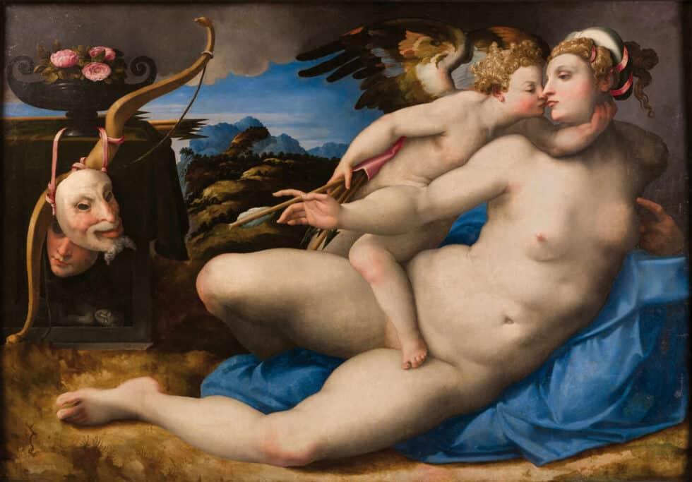 Venus besada por Cupido, Miguel Ángel