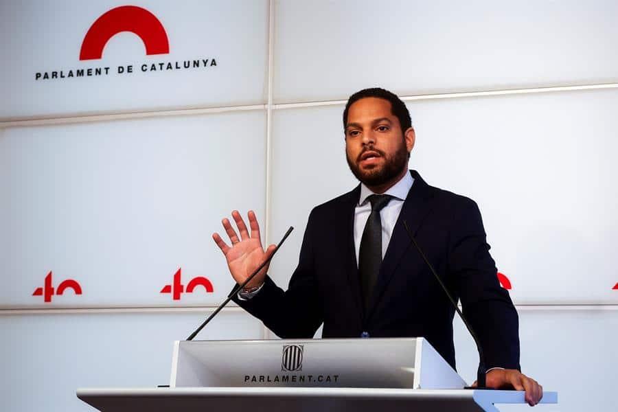 Ignacio Garriga, líder de Vox en Cataluña, en el Parlament
