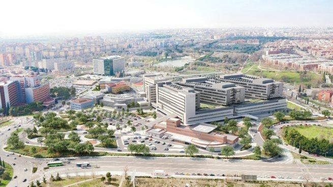 Recreación de la ampliación del hospital 12 de Octubre.