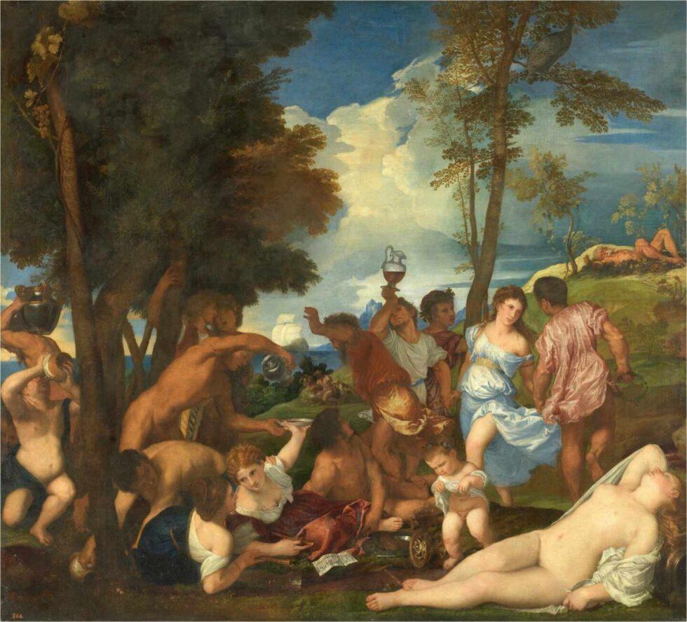 La bacanal de los andrios, Tiziano