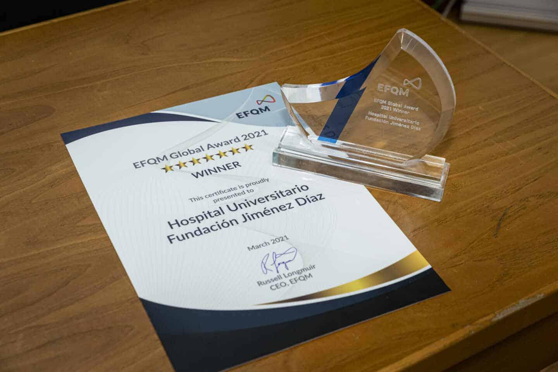 La Fundación Jiménez Díaz, primer hospital del mundo en recibir el EFQM Global Award.