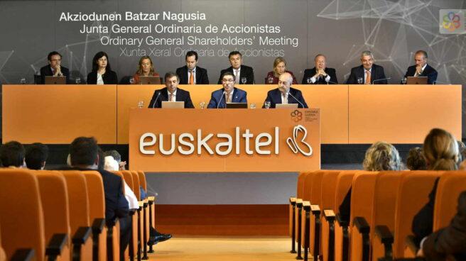 Junta de accionistas de Euskaltel, celebrada en Euskadi durante la pandemia