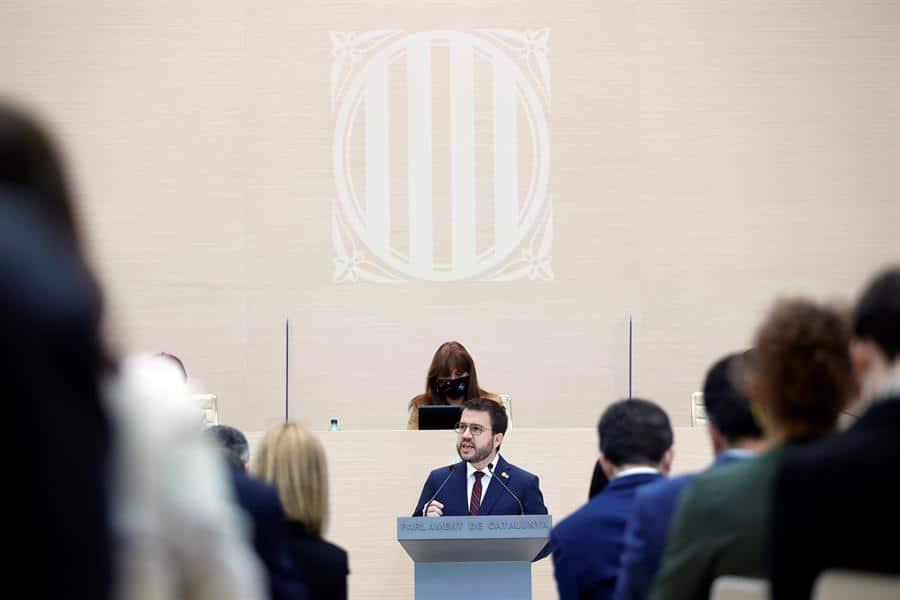 Pere Aragonés abre el debate para su investidura