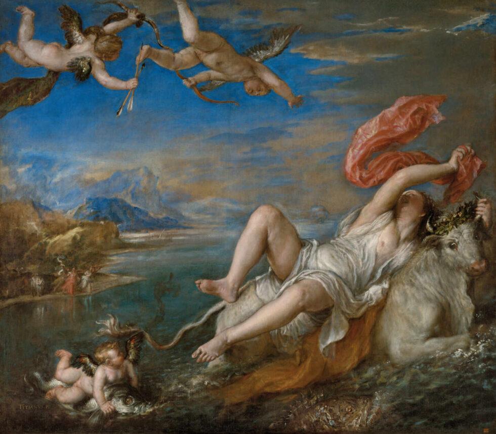 El Rapto de Europa, Tiziano.