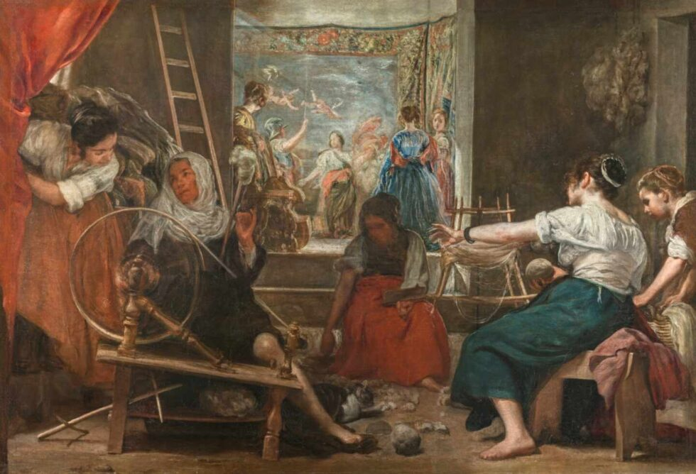 La fábula de Aracne o Las hilanderas Diego Velázquez