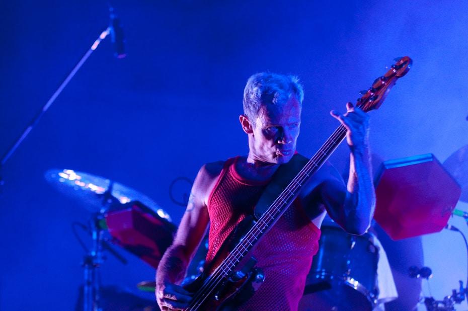 El bajista de los Red Hot Chili Peppers, Flea
