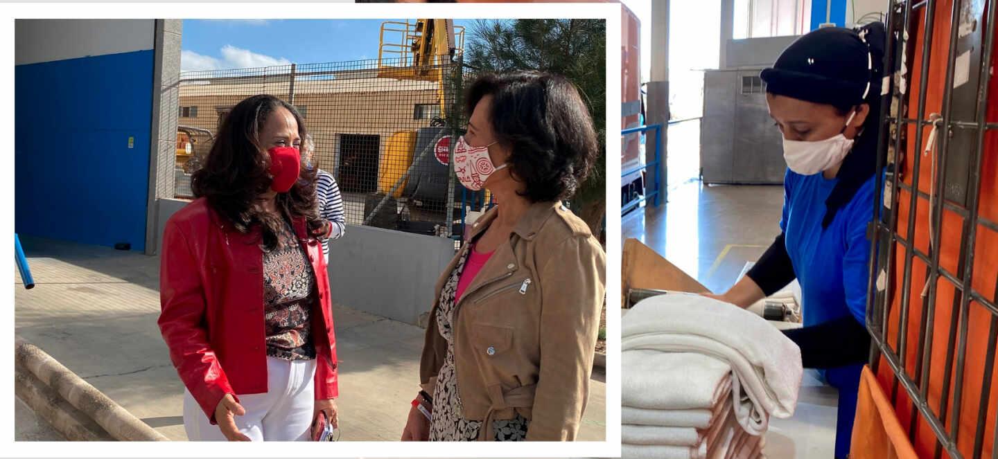 Visita de Ana Botin a la Lavandera El Romeral