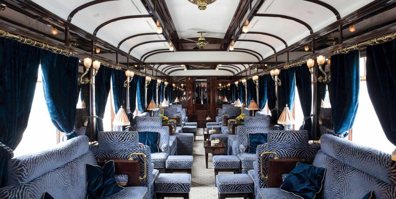 Interior del lujoso Orient Express
