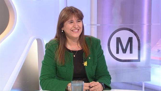 Laura Borràs en la entrevista a TV3