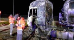 Un hombre muere calcinado en el interior de un camión en Zuasti (Navarra)