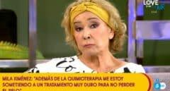"""Mila Ximénez reaparece en 'Sálvame' y confiesa: """"Se ha complicado una zona y tengo que tomar una decisión"""""""