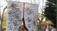 Vandalizan con esvásticas un monumento a las Brigadas Internacionales en Vicálvaro