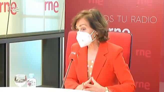 Carmen Calvo, en RNE.