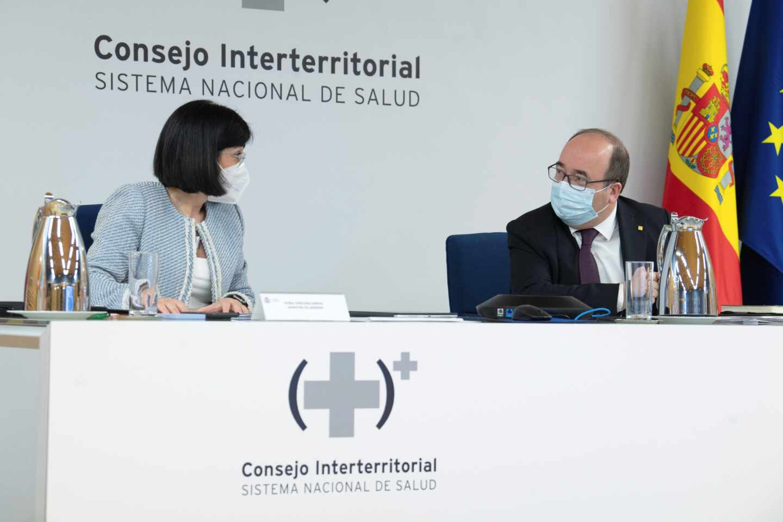 Carolina Darias y Miquel Iceta, en el Consejo Interterritorial.