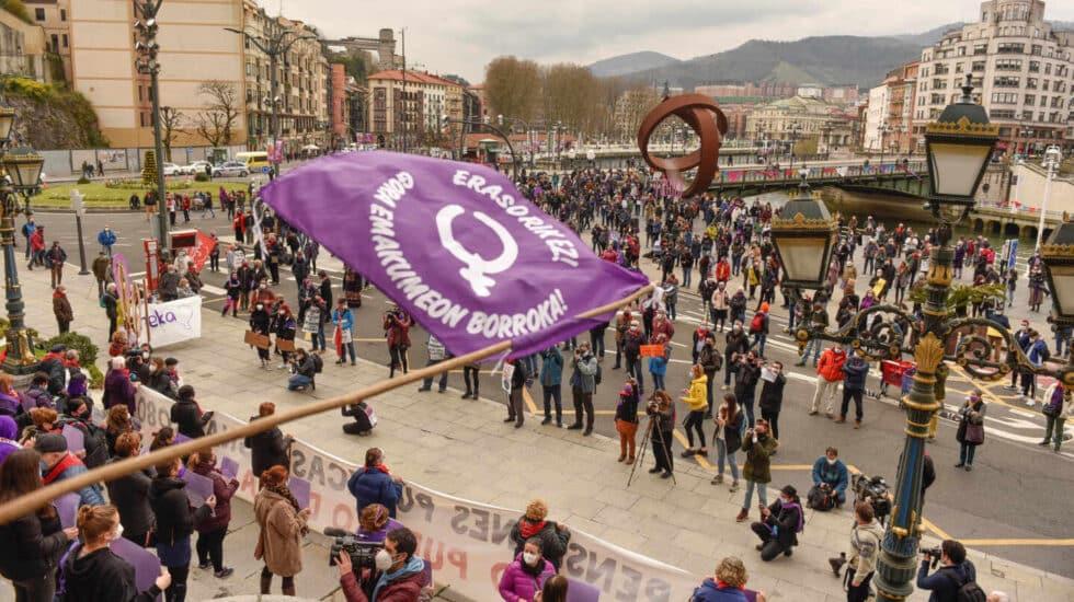 Celebraciones por el 8-M en Bilbao