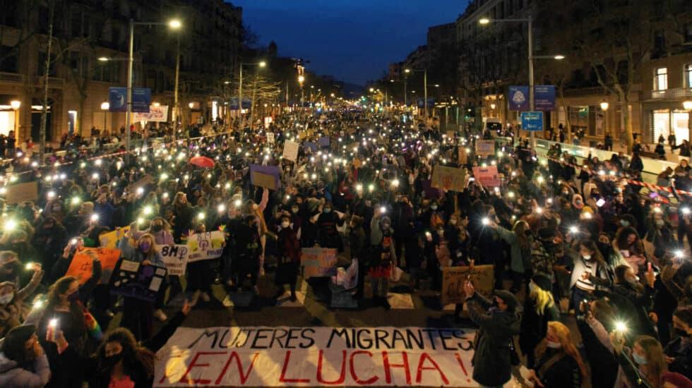 Celebraciones por el 8-M en Barcelona