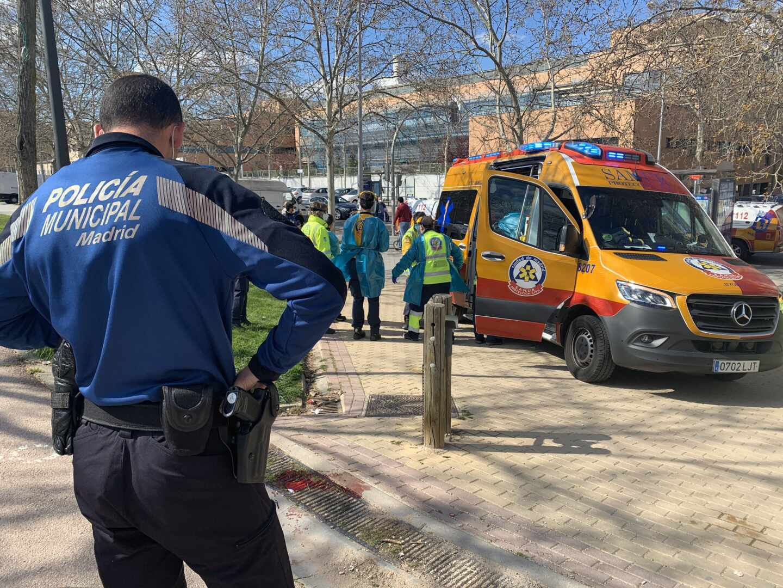 Atropello de una mujer en Madrid.