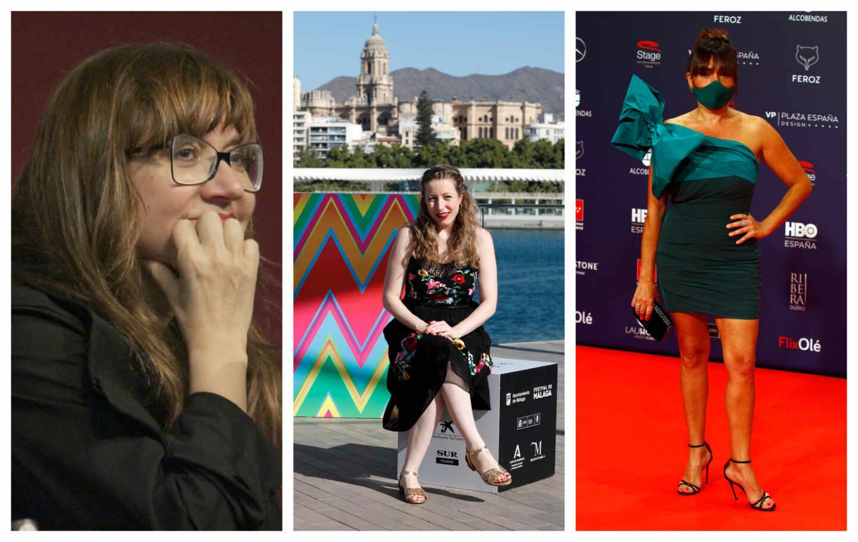Un conjunto de imágenes en el que salen Isabel Coixet, Pilar Palomero y Candela Peña