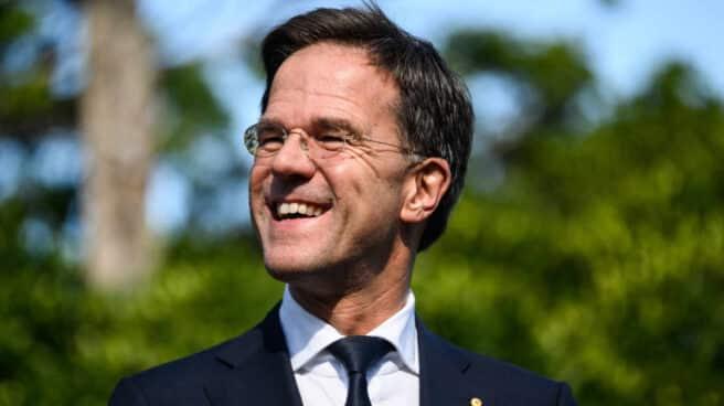 Mark Rutte, primer ministro de Países Bajos, sonriente.