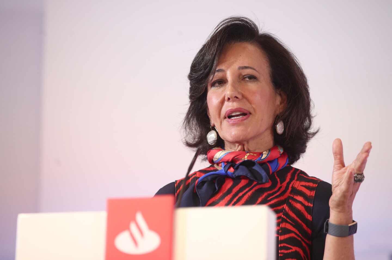 Ana Botín, presidenta del Banco Santander durante la presentación de resultados