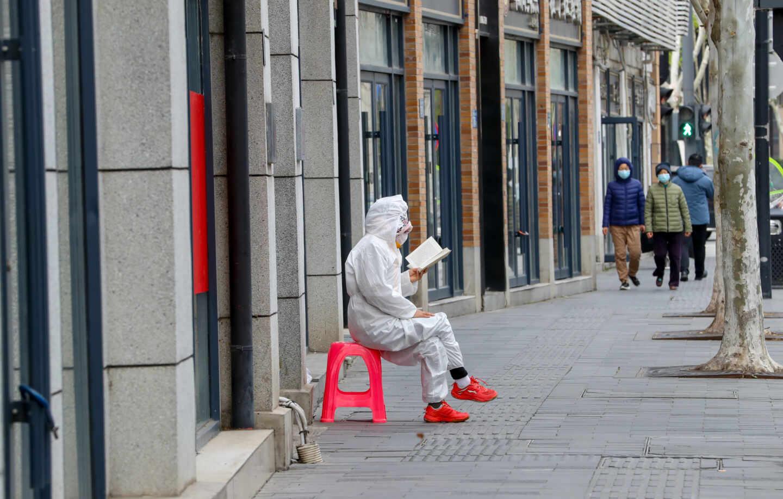 Imagen de una calle de Wuhan.