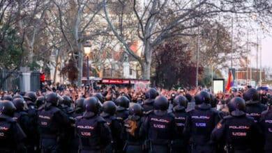 La manifestación a favor de Hasél en Madrid se disuelve tras más de una hora de protestas sin incidentes