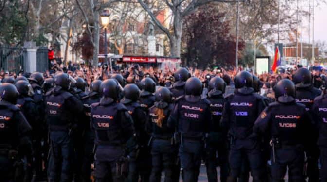 La manifestación a favor de Hasél en Madrid se disuelve tras una jornada sin incidentes